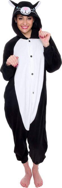 Silver Lilly Pijamas Unisex para Adultos, de una Pieza, de Felpa, para Cosplay, Gato, Disfraz de Animal