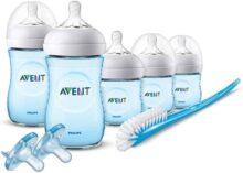 Philips Avent Natural - Juego de biberones para bebé, color morado, Viejo, Azul