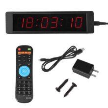 Walfront Reloj de Pared programable LED Reloj cronómetro Prscise Temporizador para Entrenamiento de Fitness