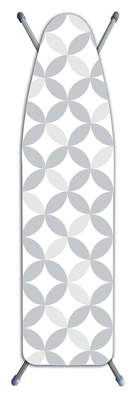 Laundry Solutions by Westex Funda para Tabla de Planchar (con diseño de círculos, Extra Gruesa, Color Gris)
