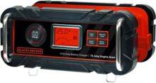 BLACK+DECKER BC15BD - Cargador de batería de banco de 15 A con motor de 40 Amp, Negro, 25 Amp