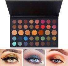 Kit Sombras de Ojos 39 Colores,AVEDISTANTE Paleta de Sombra de Ojos Paleta Básica para Principiantes Maquillaje Eyeshadow #2