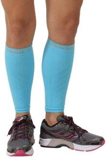 Mangas de compresión Zensah para las pantorrillas, ayuda con el dolor por inflamación de los músculos de la espinilla, mangas para correr