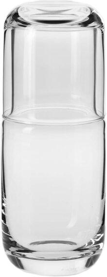 Household Essentials–Krosno Mesita de noche hecho a mano Hydro Jarra de agua Set, Moderno, Transparente, 1