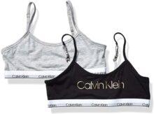 Calvin Klein Little Modern Bralette de algodón para niñas