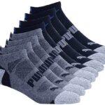 Puma - Calcetines deportivos para hombre, control de la humedad, soporte para arco, 8 pares, 6 - 12, color negro
