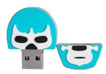 By Mexico USB modelo Máscara de Luchador Turquesa 8 GB