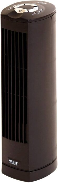 Seville Classics UltraSlimline Ventilador de Torre, Ventilador de Torre de 43 cm, Negro, 1