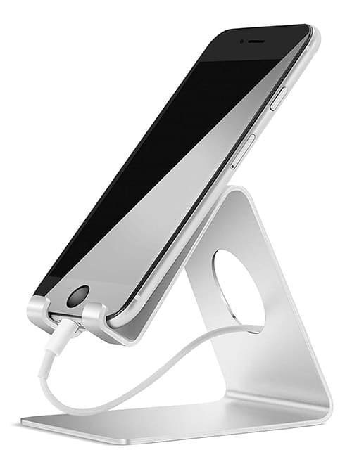 Soporte Celular, Lamicall Base Para Celular Móvil Telefono : Accesorios Base para Celular for Phone X Xs Max XR 8 7 6 Plus,Samsung s9 s8 s8s Plus edge,Huawei P20 Lite pro Nova 3 Mate 10 Lite,Xiaomi Mi 8 Band 3 a2 lite Redmi Note 5 -Plata