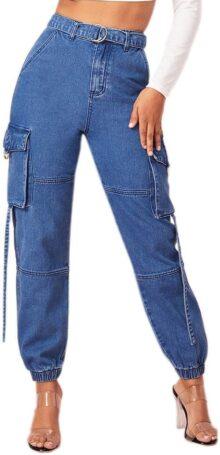 Milumia Jeans de Cintura Alta para Mujer