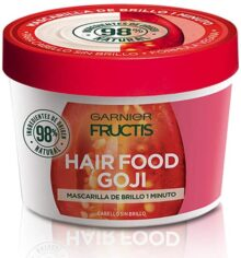 Garnier Fructis Mascarilla para cabello natural y vegana, hair food fructis garnier, goji Goji