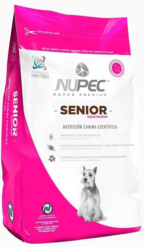 Nupec Alimento Seco para Perro Raza Pequeña Senior, 8 kg, 1 Pack