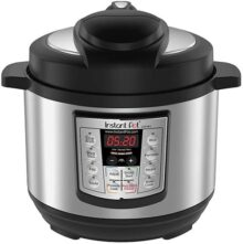 Instant Pot LUX Mini Olla de presión programable 6-in-1 Multi-Uso, 2.8 litros (Pressure Cooker, Slow Cooker, Rice Cooker, Sauté, Steamer, and Warmer)