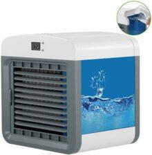 NEXGADGET Aire Acondicionado Móvil, 3-en-1 Mini Ventilador Humidificador Purificador de Aire Personal USB Climatizador Portátil [Sin Freón] para Casa/Oficina
