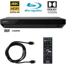 Sony 4K Ultra HD Reproductor de BLU Ray con 4K HDR y Dolby Vision + Cable HDMI de 6 pies (UBP-X700)