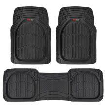 Motor Trend flextough Alfombrillas-Plato Hondo Alfombrillas de Goma Resistente para Coche SUV Camión & Van, Color Negro, Negro