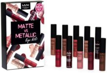 Pintalabios de maquillaje profesional NYX suave mate, 10-Piece Lipstick Set, 29,57ml