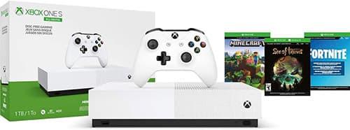 Consola Xbox One S 1TB All Digital con 3 juegos digitales (No tiene lector de discos) - Special Edition