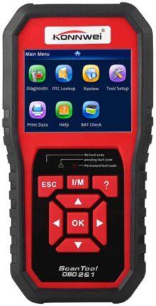 KONNWEI KW850 OBDII OBD2 EOBD luz coche escáner de diagnóstico herramienta de código de error lector