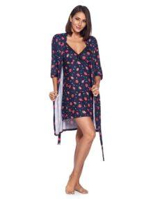 Casual Nights - Conjunto de Bata y Bata de Kimono para Mujer, 2 Piezas, rayón químico