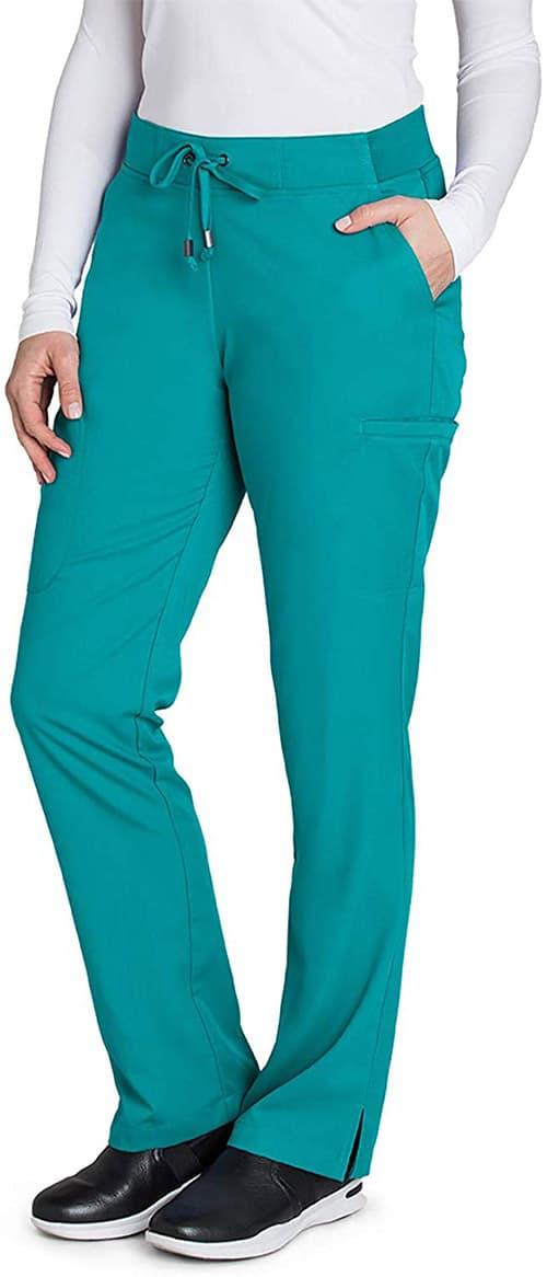 BARCO Grey'S Anatomy - Pantalón Plano con 6 Bolsillos para Mujer, Ajuste Moderno