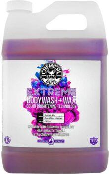 Chemical Guys CWS20716 Extreme Bodywash & Wax - Jabón de Lavado para Coche con tecnología de Brillo de Color, 40,6 l oz, 1 Paquete, 128 oz - 1 Gallon