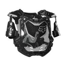 Fox Racing R3 - Protector de pecho para motocicleta todoterreno, Negro/Gris, Mediano/Grande