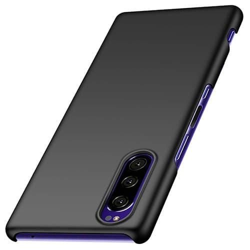 anccer Funda Sony Xperia 5, Alta Calidad Ultra Slim Anti-Rasguño y Resistente Huellas Dactilares Totalmente Protectora Caso de Duro Cover Case para Sony Xperia 5 (Negro Liso)