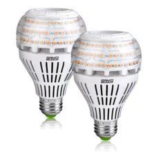 Sansi 27W (equivalente a 250W) a21omnidireccional LED de cerámica bombillas de luz, 3500Lúmenes, 3000K luz blanca cálida suave, E26tamaño mediano Base de tornillo foco proyector, foco, iluminación del hogar, no regulable (paquete de 2)