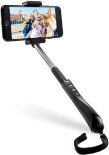Polaroid Palo Selfie de 40 Pulgadas con liberación remota Bluetooth integrada en el Agarre para Dispositivos de cámara Bluetooth iOS y Android y cámaras Digitales