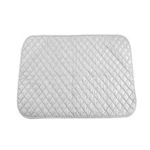 Manta para Planchar en la Mesa Manta de Planchar de Algodón Rápido Alfombrilla para Tabla de Planchar Seguro Resistente al Calor Color Plata(55 * 60 cm)