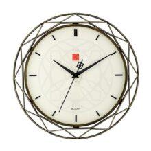 Bulova Clocks C4834 Luxfer Prism Reloj de Pared Inspirado en Frank Lloyd Wright de 14 Pulgadas