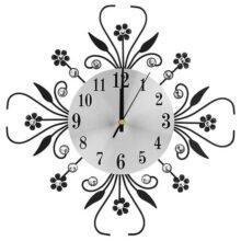 FTVOGUE Reloj de Pared de Estilo Europeo Creative Mute Iron en Forma deFlor Montado en la Pared de Diamante Que Cuelga Reloj para la Sala de Estar en Casa Decoración