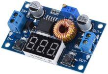 Serounder 5A 75W DC-DC Regulador de Voltaje de módulo de reducción Ajustable con Pantalla de voltímetro