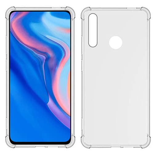 USTIYA TIYA Funda para Huawei Y9 Prime 2019 y Y9 2020 y P Smart Z Carcasa Bumper,Shock-Absorción TPU Transparente con Cuatro Esquinas Espesamiento