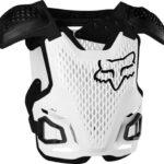Fox Racing R3 Protector de pecho para motocicleta todoterreno para hombre, Blanco, Pequeño/Mediano