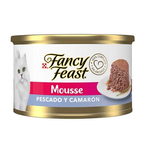 Fancy Feast Mousse Pescado y Camarón, 85 g, Paquete de 24