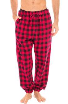 Alexander Del Rossa - Pantalones de Pijama Ligeros de Franela para Hombre, Pantalones Largos de algodón PJ