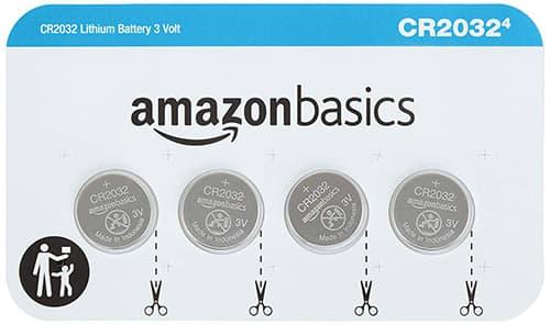 Amazon Basics – Pilas de Moneda, CR2032, 4 Unidades
