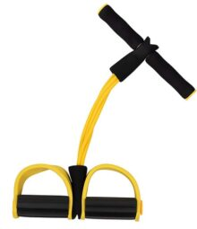 Expansor de culturismo – banda de resistencia de pedalos, dispositivo de ejercicio sentado, correa de cuerda de tracción, equipo de fitness, para brazos, abdomen, piernas, cintura, entrenamiento muscular, 16.5 x 10.2 x 2.25 pulgadas