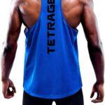 TETRAGEX Playera Deportiva Olimpica Gym Sin Mangas Hombre Crossfit