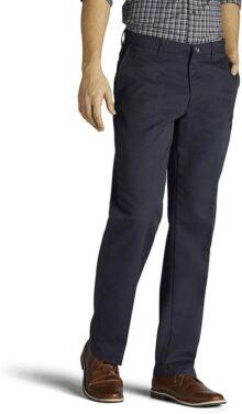 Lee Big & Tall Total Freedom - Pantalón de Ajuste Relajado con Parte Delantera Plana Pantalones para Hombre