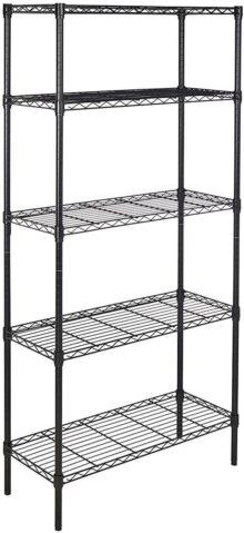AmazonBasics Unidad de estantería con 5 repisas - negro