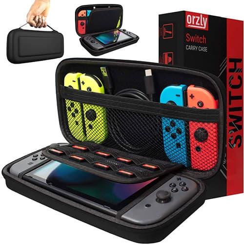Orzly Funda de para Transportar la Nintendo Switch – Negro Funda Dura de Viaje para Llevar la Nintendo Switch y Sus Accesorios