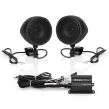 "BOSS Audio MCBK420B Bluetooth Enabled Motorcycle/UTV Speaker and Amplifier System, 3"" Waterproof"