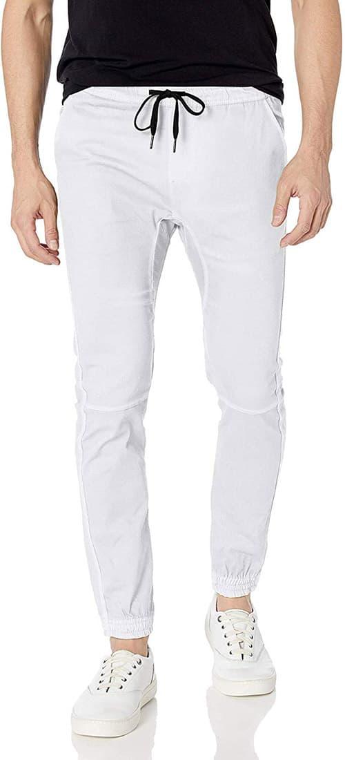 BROOKLYN ATHLETICS - Pantalones de Sarga para Hombre, elásticos, Suaves y Ajustados