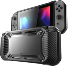 Mumba Funda Nintendo Switch, Carcasa [Hard Duty] Slim Rubberized [Snap on] rígido Case para la versión de Nintendo Switch 2017 (Negro)