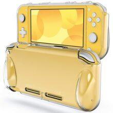 JETech Funda Compatible con Nintendo Switch Lite 2019, TPU de Alta Calidad, Absorción de Impactos, Transparente