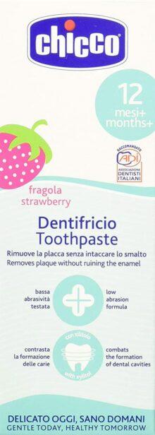 Chicco Paste Dental Dentrifico 12m No Fluor
