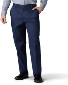 Lee Pantalones de Corte Recto para Hombre Total Freedom Stretch Fit Flat Front